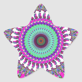 Colorful Mandala of Symmetry Star Sticker
