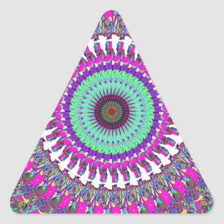 Colorful Mandala of Symmetry Triangle Sticker