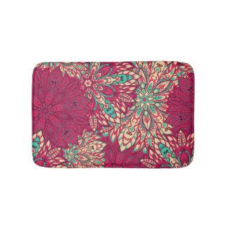 Colorful mandala pattern bath mats