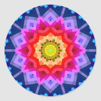 Colorful Mandala Round Sticker