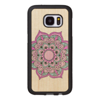 Colorful Mandala Wood Samsung Galaxy S7 Case