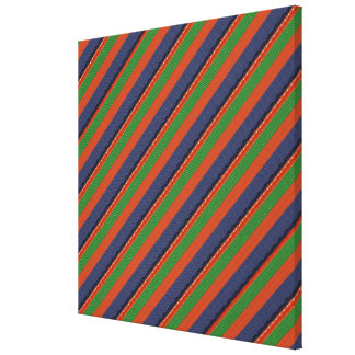 COLORFUL Mania Stripes : Outstanding ColorShades Gallery Wrapped Canvas
