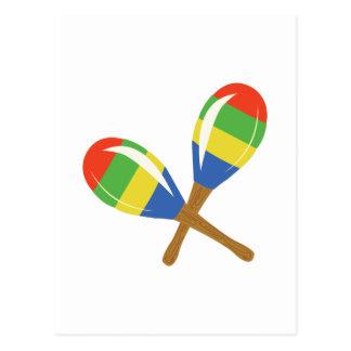 Colorful Maracas Postcard