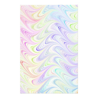 colorful marble pattern stationery