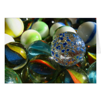 Colorful Marbles Card