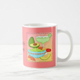Colorful Margarita Guacamole Fun Celebrate Classic White Coffee Mug