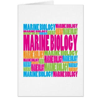 Colorful Marine Biology Card