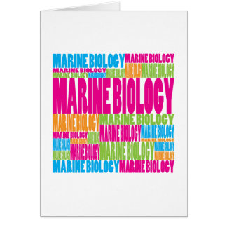 Colorful Marine Biology Greeting Card