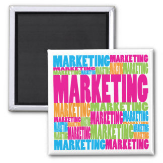 Colorful Marketing Square Magnet