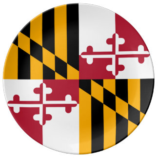 Colorful Maryland State Flag Plate