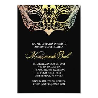 """Colorful Mask Masquerade Invitations 5"""" X 7"""" Invitation Card"""