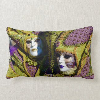 Colorful Masked Couple in Venice, Italy Cushions