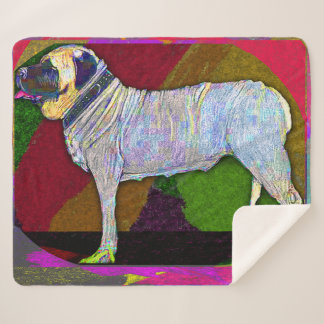Colorful Mastiff Blanket