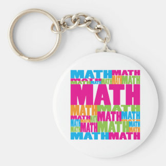 Colorful Math Basic Round Button Key Ring