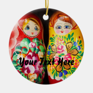 Colorful Matryoshka Dolls Christmas Ornament