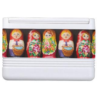 Colorful Matryoshka Dolls Igloo Cooler