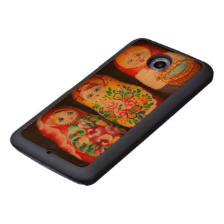Colorful Matryoshka Dolls Wood Phone Case