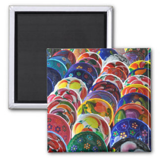 Colorful Mayan Mexican Gift Souvenir Bowls Square Magnet