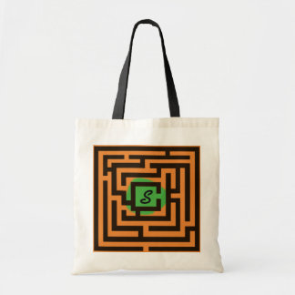 Colorful Maze with Custom Monogram Green