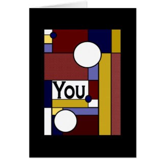 Colorful Meaningful Thank You! Greeting Card