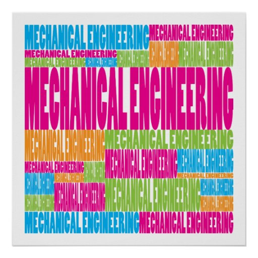 Colorful Mechanical Engineering Print