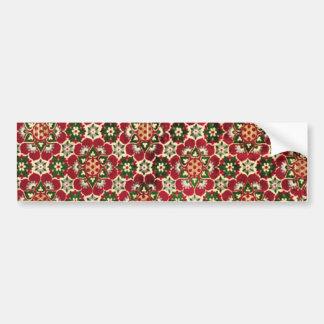 Colorful Medici Fabric Bumper Sticker