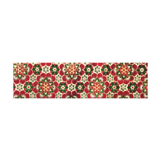 Colorful Medici Fabric Stretched Canvas Print