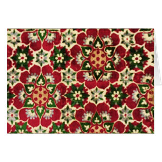 Colorful Medici Fabric Greeting Card