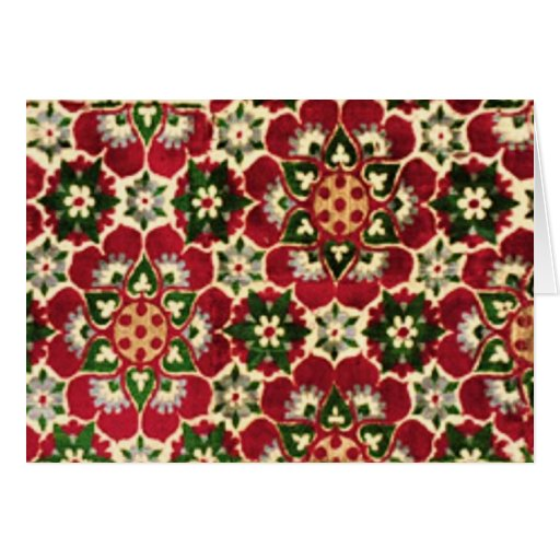 Colorful Medici Fabric Greeting Cards