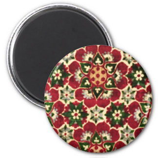 Colorful Medici Fabric Refrigerator Magnets