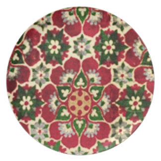 Colorful Medici Fabric Dinner Plates