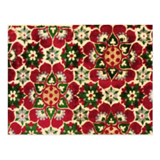 Colorful Medici Fabric Postcard