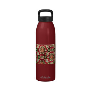 Colorful Medici Fabric Reusable Water Bottles