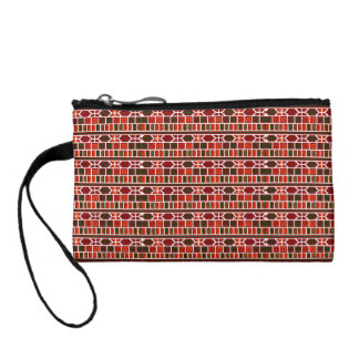Colorful Mediterranean Traditional Pattern Design Coin Purse