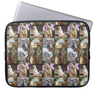 Colorful Meerkat Images In A Photo Collage, Laptop Sleeve