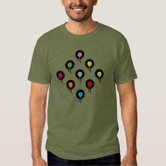 Colorful Melting Vinyl Record Dot Pattern T-Shirt