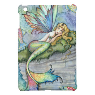 Colorful Mermaid and Carp Fish Fantasy Art iPad Mini Cover