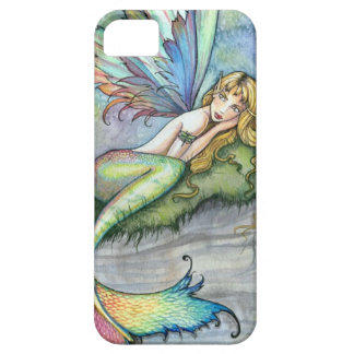 Colorful Mermaid and Carp Fish Fantasy Art iPhone 5 Case