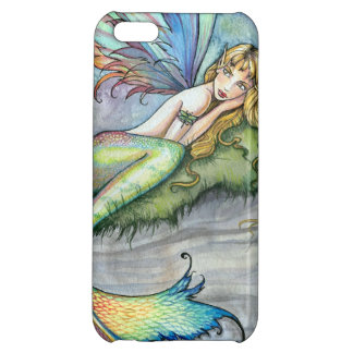 Colorful Mermaid and Carp Fish Fantasy Art iPhone 5C Cases