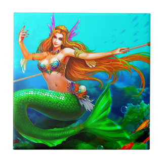 COLORFUL MERMAID PRINCESS TILE
