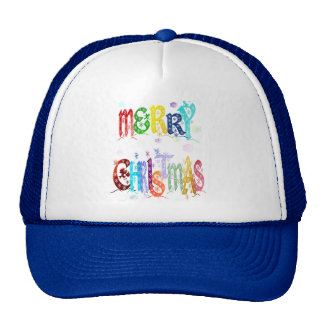 Colorful Merry Christmas Hats