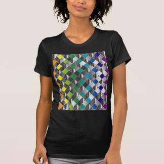 Colorful metal grid T-Shirt
