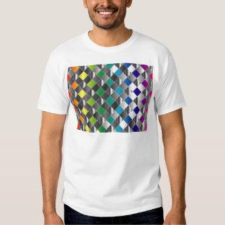 Colorful metal grid t shirts