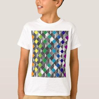 Colorful metal grid tshirt