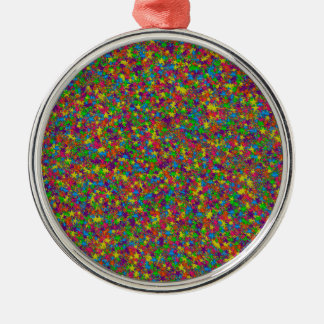 Colorful Metal Stars Round Ornament