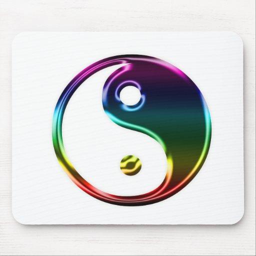 Colorful Metalic Ying Yang Mousepad