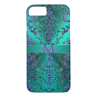 Colorful metallic Damask Monogram iPhone 8/7 Case