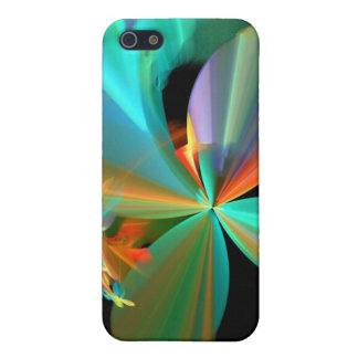 Colorful Metallic Flower Petals Case For iPhone 5/5S