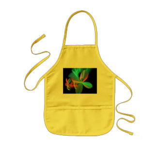 Colorful Metallic Flower Petals Kids Apron