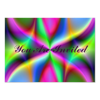 Colorful Metallic Fractal Lustre Card
